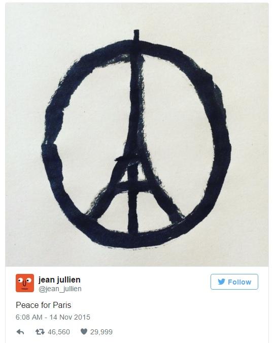 Tác giả của biểu tượng hòa bình cho Paris