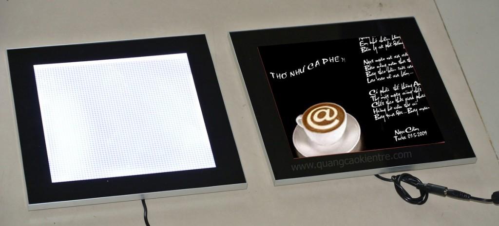 biển quảng cáo hộp đèn siêu mỏng
