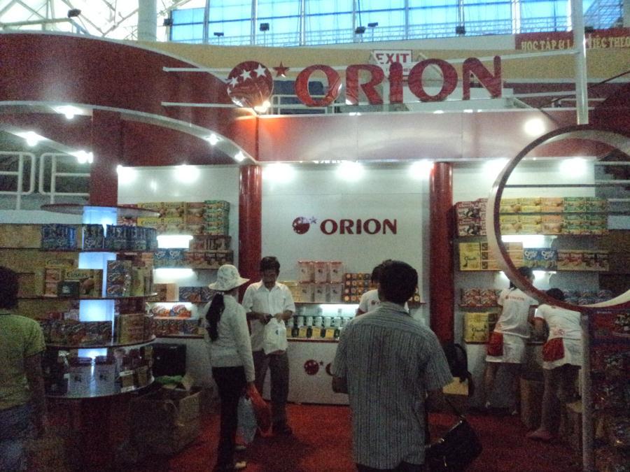Thi công lắp đặt Booth Orion