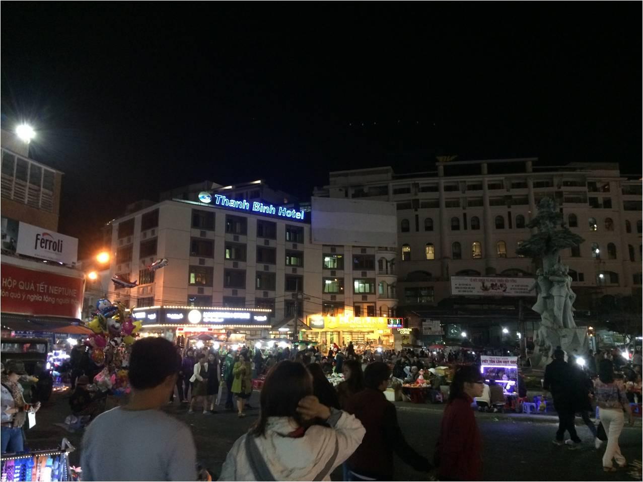 Vòng xoay chợ Đà Lạt
